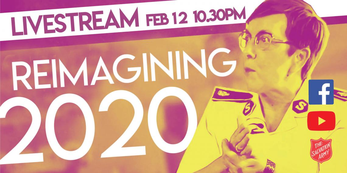 Commissioner Rosalie Peddle with text 'Reimagining 2020'