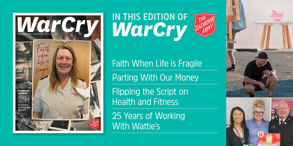 10 August 2019 War Cry cover